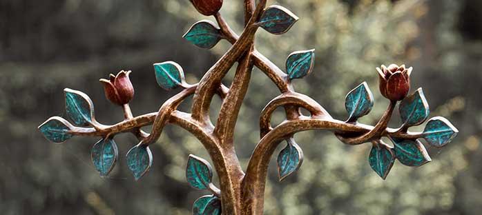 Grabschmuck Kreuz aus Bronze